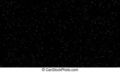 Flight of abstract stars of galaxy on black background. -...