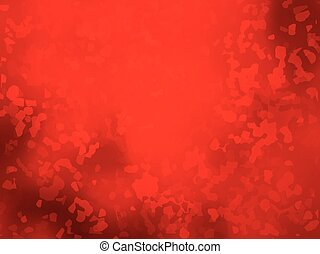 artistic red background forming by abstract shapes