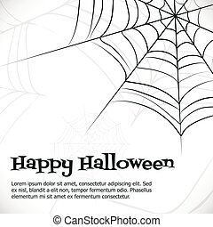 Vector spider web. - Spider's web. Black and white vector...