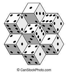 Abstract dice composition - Illustration of the abstract...