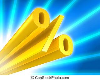 Golden Percent sign