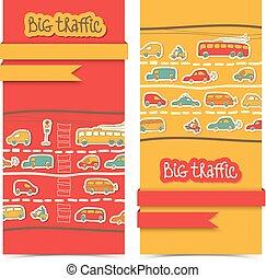 Transportation Banner Set
