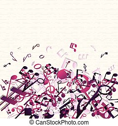 Colorful Purple Music Background - Colorful purple music...