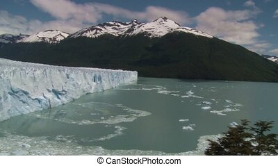 Panoramic view of Perito Moreno glacier in Argentina -...