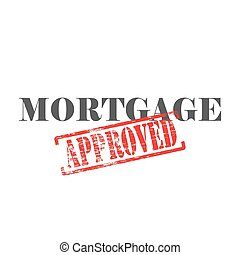 Mortgage Approved Word Stamp