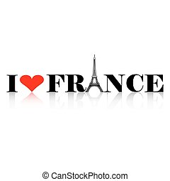 I Love France Silhouette