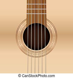 Guitar Sound Hole - Six string acoustic guitar sound hole