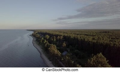 Engure Latvia Aerial view of countryside drone top view 4K...