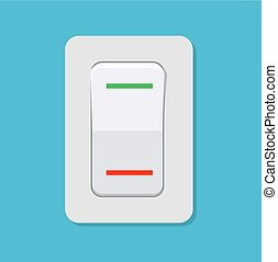 Toggle switch. Electric control concept. Vector illustration...