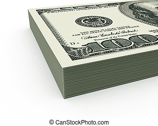 USD stack close up