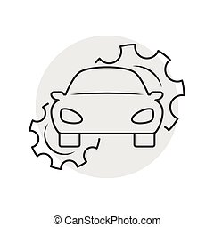 Car repair outline icon