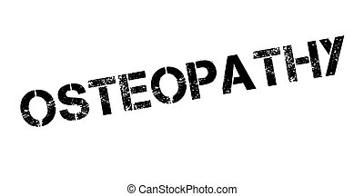 Osteopathy rubber stamp. Grunge design with dust scratches....
