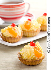 fruit cake - cup cake with tasty fruit