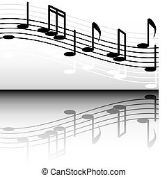 black and white melody2jpg - black and white notes, and its...