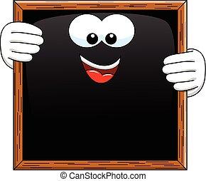 Cartoon blackboard isolated