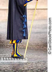 Guard colorful uniform - Detail of the colorful uniform the...