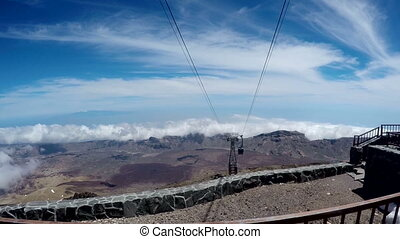 Cableway of Tenerife. - cableway on the volcano Teide....