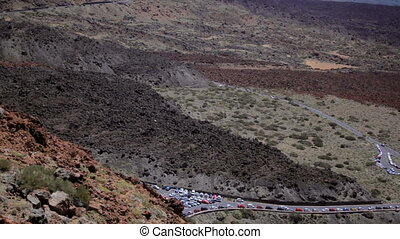 View of cabin funicular Tenerife - View of mountain scenery...