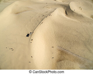 Aerial view Dunes in sunny day - Joaquina beach -...