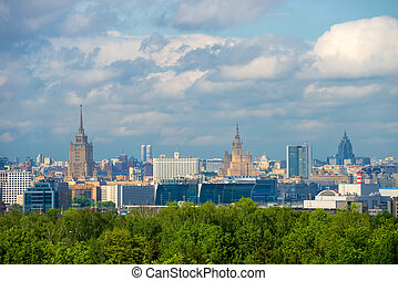 MOSCOW, RUSSIA - MAY 25, 2017: View of Moscow from above....