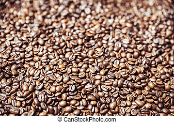 Coffee beans backround - A lot of coffee beans. Coffeine...