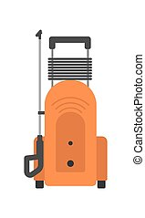 Portable pressure washer isolated vector icon - Portable...