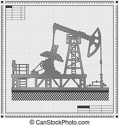 Blueprint of oil pump
