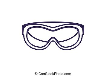Safety glasses isolated vector icon. Outdoor activity,...