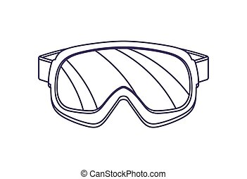 Touristic safety glasses isolated vector icon. Outdoor...