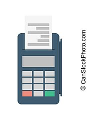 Credit card terminal vector icon - Credit card terminal for...