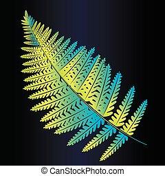 Neon leaf fern