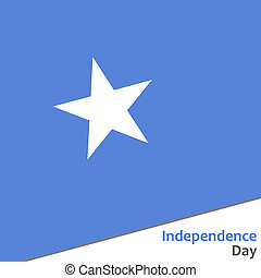 Somalia independence day with flag  illustration for web