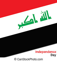 Irak independence day with flag  illustration for web