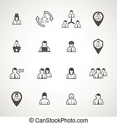 Set people vector design icon