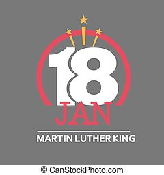Martin Luther King Day. Vector illustration