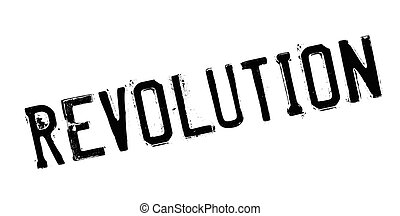 Revolution rubber stamp. Grunge design with dust scratches....