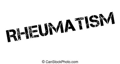 Rheumatism rubber stamp. Grunge design with dust scratches....