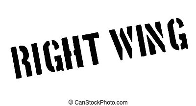 Right Wing rubber stamp. Grunge design with dust scratches....