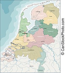 Map of Netherlands - The Netherlands is a densely populated...