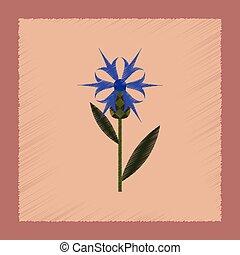 flat shading style icon plant flower Centaurea - flat...