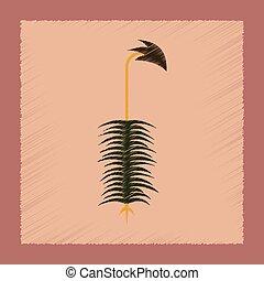 flat shading style icon nature plant Polytrichum - flat...