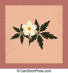 flat shading style icon flower Anemone - flat shading style...