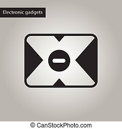 black and white style icon removable hard drive - black and...