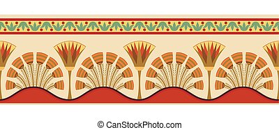 Egyptian national ornaments. - Seamless vector illustration...