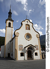 Catolic church - Old catolic church in a quiet mountain town