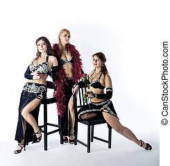 Trois, femme, Tango, déguisement