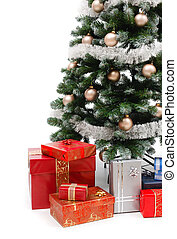 Christmas tree with presents - Lots of presents under the...