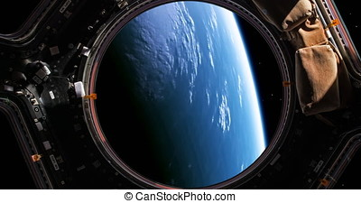 A stunning 4K view of planet earth as viewed by an astronaut who is watching it through the windows of his space shuttle. This is version 1, please see version 2 also