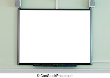 Interactive whiteboard - An interactive whiteboard blank to...