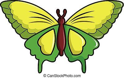 Goliath birdwing butterfly icon, cartoon style - Goliath...